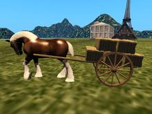 *GIFT* farm cart  with hay for Teegle Water Horse Jinx centaur ecc ecc