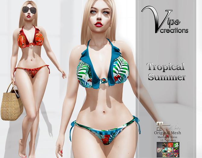 [Vips Creations] - Original Mesh Bikini - [Tropical Summer]-MT-Maitreya-Bikini