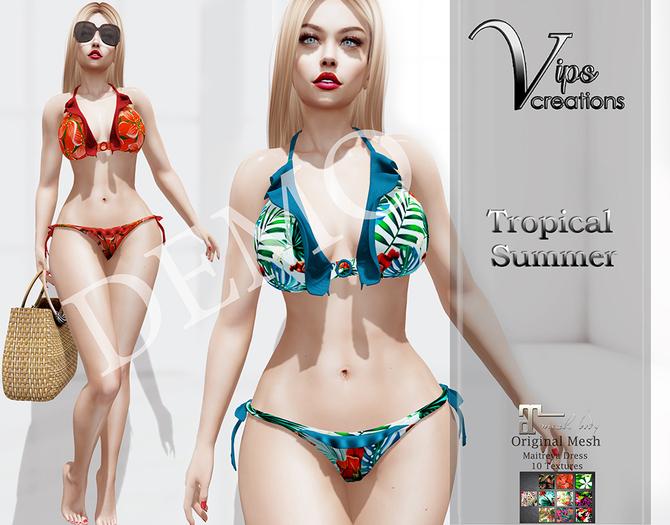 [Vips Creations] - DEMO - Original Mesh Dress-[Tropical Summer]