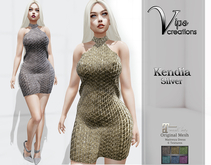[Vips Creations] - Original Mesh Dress - [Kendia 2-Silver]HUD-Maitreya
