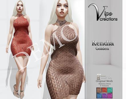 [Vips Creations] - DEMO - Original Mesh Dress  - [Kendia]-Maitreya
