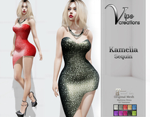 [Vips Creations] - Original Mesh Dress - Kamelia Sequin]HUD-Maitreya