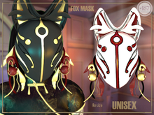 #187# Fox Mask WHITE RED