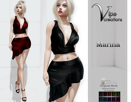 [Vips Creations] - Original Mesh Dress  - [Marina]-Maitreya