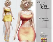[Vips Creations] - Original Mesh Dress - [Leonora Golden]HUD-Maitreya