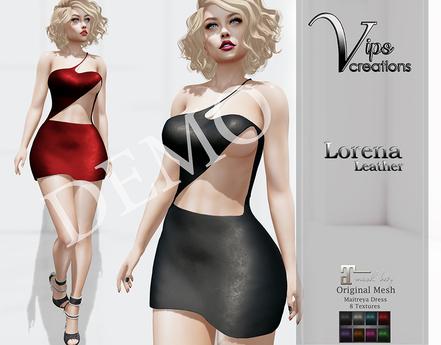 [Vips Creations] - DEMO - Original Mesh Dress - [Leonora-Leather]-Maitreya
