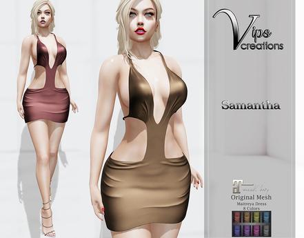 [Vips Creations] - Original Mesh Dress  - [Samantha B]Hud-Maitreya