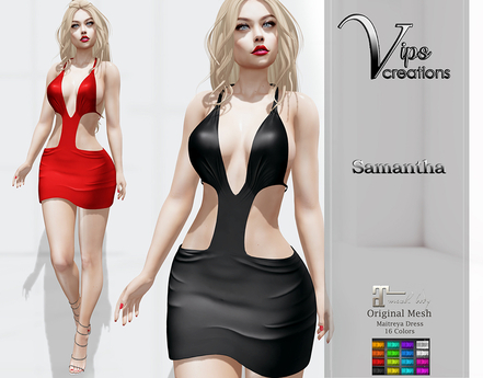 [Vips Creations] - Original Mesh Dress - [Samantha A]Hud-Maitreya