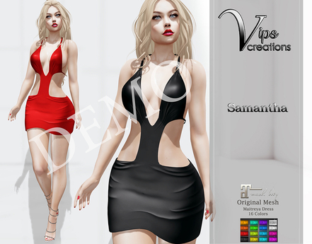 [Vips Creations] - DEMO - Original Mesh Dress - [Samantha A]-Maitreya