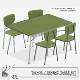 taikou / dining set table & chairs
