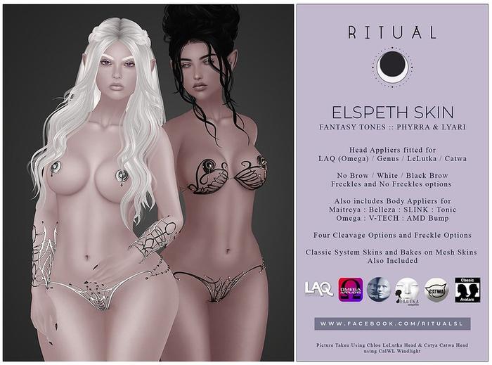 [ RITUAL ] Elspeth Skin - Fantasy Tone Duo - Phyrra & Lyari Gift Skin