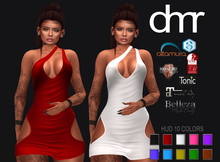 [DR] Mini Dress 138 HUD 10 COLORS :: MESH