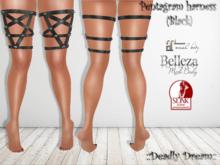 ::Deadly Dream:: - Gift Pentagram leg harness (Black)