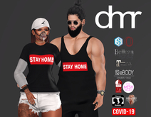 [DR] STAY HOME COVID-19 FEMALE ::MESH ::