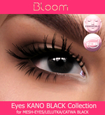 BLOOM - Eyes KANO Collection MESH-EYES/LELUTKA/CATWA BLACK