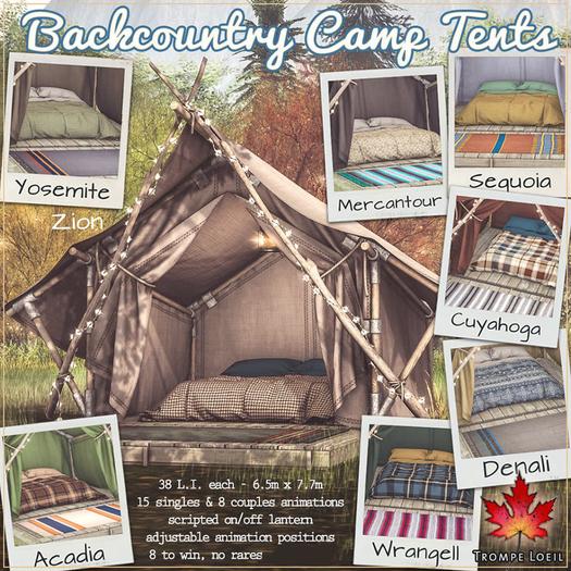 Trompe Loeil - Backcountry Camp Tent Zion