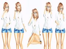 //Secret Poses// Intellectual Glasses (BENTO)