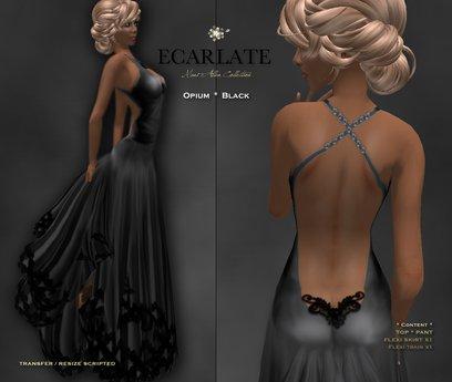 Ecarlate - Opium - Gown Formal - Black / Robe formelle