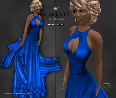 Ecarlate - Opium - Gown Formal - Blue / Robe formelle