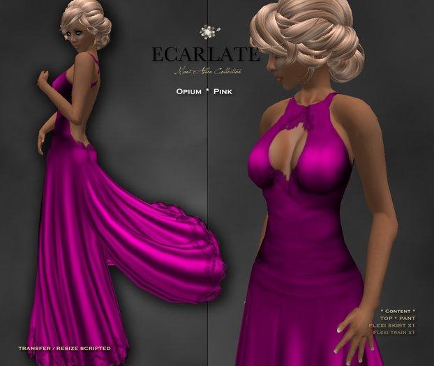 Ecarlate - Opium - Gown Formal - Pink / Robe formelle