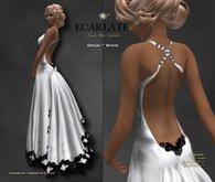 Ecarlate - Opium - Gown Formal - White / Robe formelle