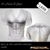 * Prodigal * v-neck t-shirt wing white