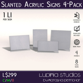 Plastic Signs/Sign Holders - Office and Retail Store Decor