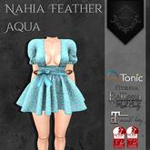 **Mistique** Nahia Feather Aqua (wear me and click to unpack)