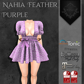**Mistique** Nahia Feather Purple (wear me and click to unpack)