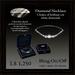 Diamond Necklace - Choker of fine brilliant cut diamonds