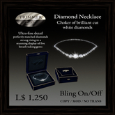 Diamond Necklace - Choker of fine brilliant cut diamonds