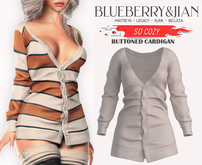 Blueberry - So Cozy - Buttoned Cardigan - Beige