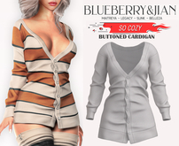 Blueberry - So Cozy - Buttoned Cardigan - White