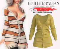 Blueberry - So Cozy - Buttoned Cardigan - Yellow