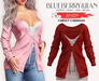 Blueberry - So Cozy - Corset Cardigan - Red