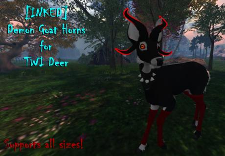 [INKED] Twi Deer Demon Goat Horns