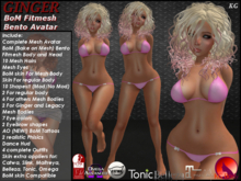 KG Ginger Complete Teen Female MESH AVATAR Bento Hands ( Plus Maitreya, Belleza, Slink, Omega, Catwa Appliers) PROMO!