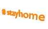 3D stayhome mesh sign #stayhome