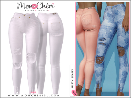 *MonCheri* Misty - High Waisted Jeans - Pure White