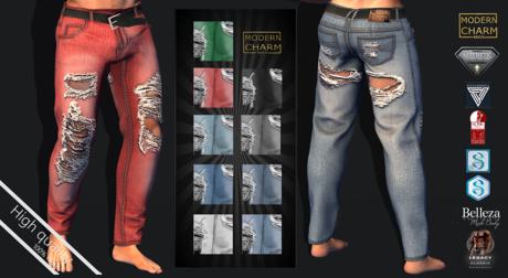 MCM- Unbuttoned Pant RIPPED JEANS (Aesthetic, Belleza, Exmachina Davide, Evolve, Gianni, Geralt, Legacy, classic)