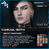 +AH+ Bento Piercings CASUAL GOTH