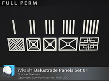 "[Prim 3D] - Ballustrade Panels Set 01 ""FULL PERM"""
