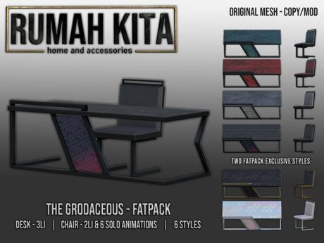 Rumah Kita - Grodaceous Desk & Chair FATPACK