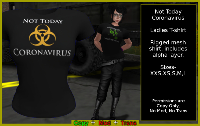 Not Today Coronavirus Ladies T-shirt