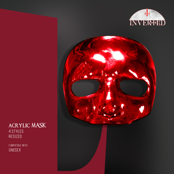 +INVERTED+ Acrylic Mask -red-