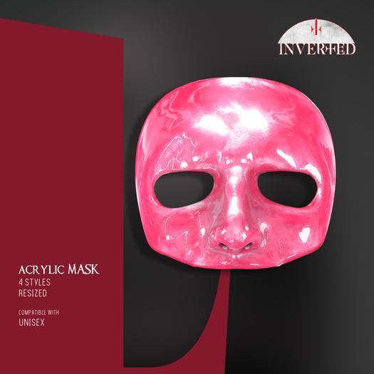 +INVERTED+ Acrylic Mask -pink-