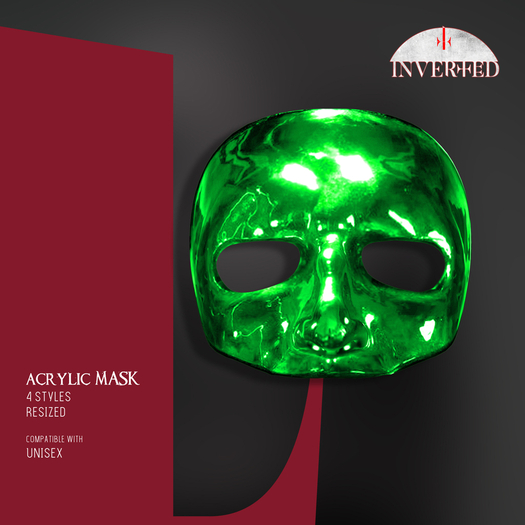 +INVERTED+ Acrylic Mask -green-