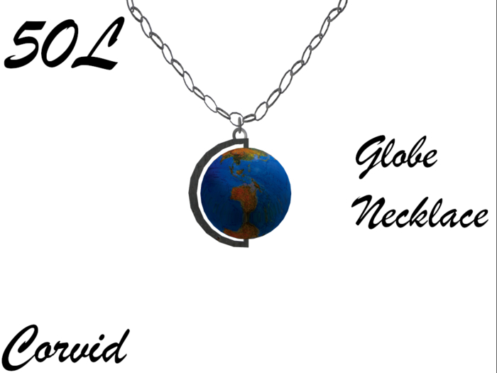 +Corvid+ Globe Necklace