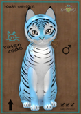 KittyCatS Box - New Born Kitten Tiger! - Powder Blue Male