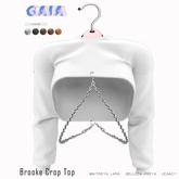 Gaia - Brooke Crop Top WHITE